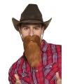 Toppers cowboy baard rood