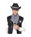 Toppers cowboy verkleed set zwart voor heren