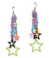Toppers neonkleurige sterren oorbellen