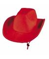 Toppers rode vilt cowboyhoed voor volwassenen