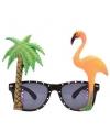 Tropische bril met flamingo