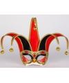 Venetiaans masker zwart met rood