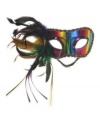 Venetiaans regenboog oogmasker