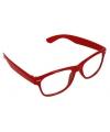 Verkleed bril rood