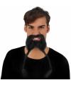 Viking snor en baard met vlechten