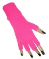 Vingerloze handschoenen fluor roze