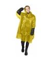 Wegwerp regenponcho geel