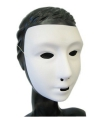 Wit grimeer masker met kalklaag