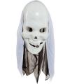 Wit skelet masker
