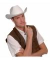 Witte cowboyhoed vilt