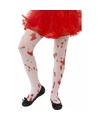 Witte kinder panty met bloedvlekken
