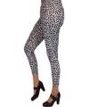 Witte luipaard legging voor dames