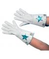 Witte nepleren handschoenen met ster