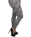 Zebra legging voor dames