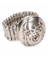 Zilveren ring met boeddha chunk