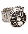 Zilveren ring met zilveren spin chunk
