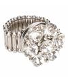 Zilveren ring met zilveren steentjes chunk