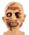 Zombie masker met bloedend oog