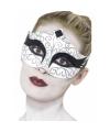 Zwaan oogmasker wit met zwart