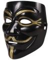 Zwart v for vendetta masker