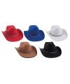 Zwarte cowboyhoeden met koord