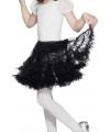 Zwarte petticoat voor kinderen