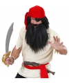 Zwarte piraten baard met snor
