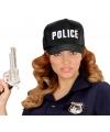 Zwarte politie pet voor volwassenen
