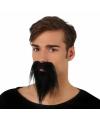 Zwarte punt baard en snor