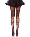 Zwarte spinnenweb panty voor dames