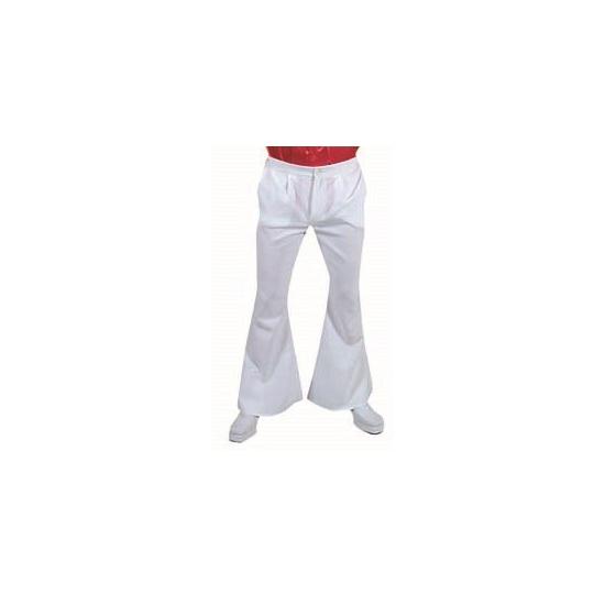 c48bf3813f4ffc Witte disco heren broek - Verkleedkleding shop  voor al uw ...