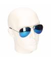 Aviator zonnebril met blauwe spiegel glazen model 5729