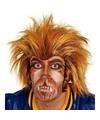 Bruine weerwolf pruik voor volwassenen