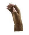 Carnaval vingerloze handschoenen licht bruin voor volwassenen