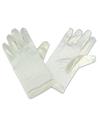Gebroken witte satijnen handschoenen voor kinderen