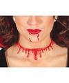 Halloween bloederige nek ketting voor dames
