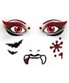 Halloween gezicht stickers vampier 1 vel