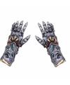 Halloween horror handschoenen metaal alien voor volwassenen