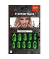 Halloween monster kunstnagels set groen 10 stuks