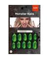 Halloween monster kunstnagels set groen 10 stuks