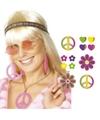 Hippie accessoires verkleedset voor dames