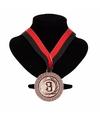 Kampioensmedaille nr 3 aan rood en zwart lint