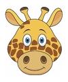 Kartonnen giraffe masker voor kinderen