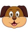 Kartonnen honden masker voor kinderen