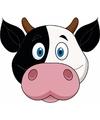 Kartonnen koeien masker voor kinderen