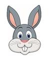 Kartonnen konijnen masker voor kinderen