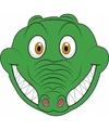 Kartonnen krokodillen masker voor kinderen