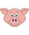 Kartonnen varken masker voor kinderen