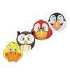 Kartonnen vogel maskers voor kinderen 4x