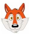 Kartonnen vossen masker voor kinderen